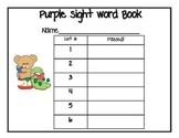 First Grade Sight Word Book