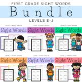 First Grade Sight Word Bundle Levels E-J