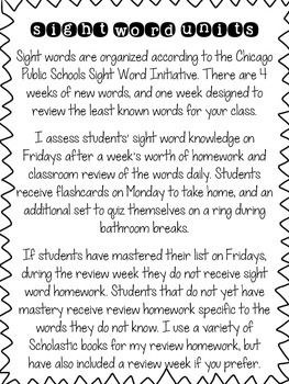 First Grade Sight Word Curriculum FULL YEAR