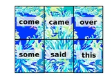 First Grade Sight Word Flash Cards Lily Print (EDITABLE)
