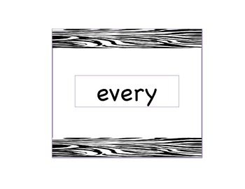 First Grade Sight Word Flash Cards - Zebra Accent