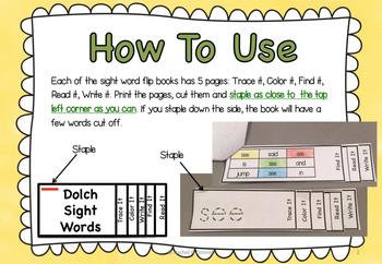 Sight Word First Grade Flip Books