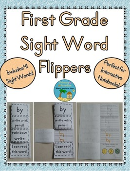 Sight Word Flippers for First Grade: 41 Words