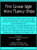 First Grade Sight Word Fluency Strips