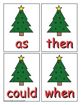 First Grade Sight Word Game Christmas Edition