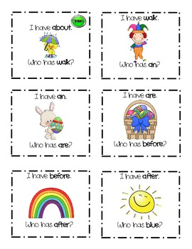 First Grade Sight Word Game: I Have, Who Has - Spring Theme