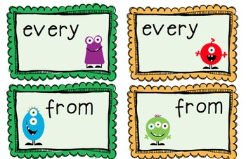 First Grade Sight Word Game Pack