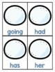 First Grade Sight Word Game Winter Themed