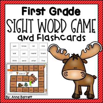 First Grade Sight Word Game and Flashcards (made with dyslexia font)
