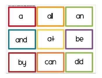 First Grade Sight Word Games Set 1