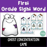First Grade Sight Word Ghost Concentration Game
