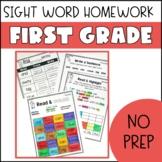 First Grade Sight Word Homework