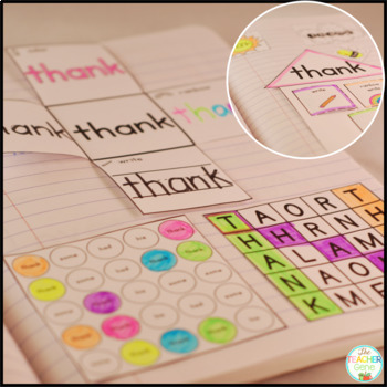 Sight Word Interactive Notebook Bundle First Grade List