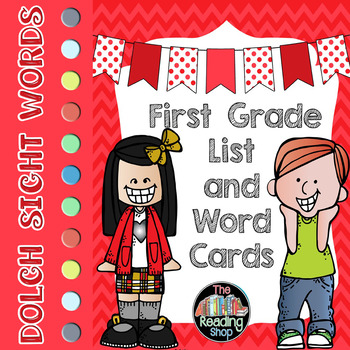 Dolch First Grade Sight Word List and Word Cards