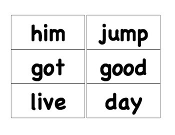 First Grade Sight Word List for Word Wall