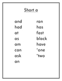 First Grade Sight Word Lists