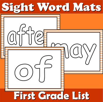 First Grade Sight Word Mats