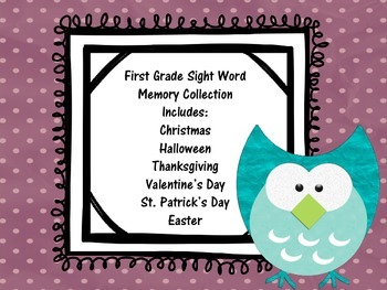First Grade Sight Word Memory Collection