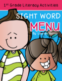 First Grade Sight Word Menu