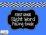 First Grade Sight Word Pacing Guide