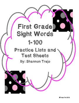 First Grade Sight Word Pack 1-100