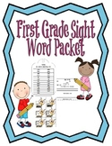 First Grade Sight Word Packet