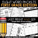 First Grade Sight Word Packets | Google Classroom | Distan