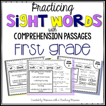 First Grade Sight Word Passages