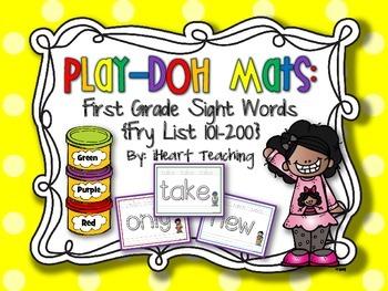 First Grade Sight Words Play-Doh Mats {Fry List 101-200}