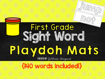First Grade Sight Word Playdoh Mats {140 words included!}