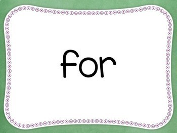 Free Download - First Grade Sight Word PowerPoints- Improve reading fluency