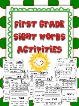 First Grade Sight Word Activities