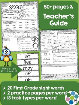 First Grade Sight Word Practice 2