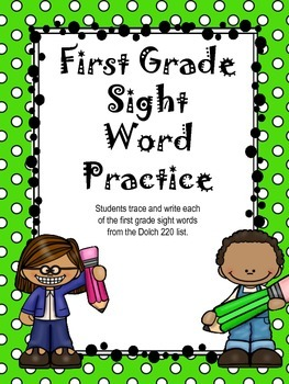 First Grade Sight Word Practice