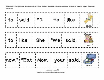 Sentence Building 1st Grade with Boom Cards | Sight Words 1st Grade Dolch Words