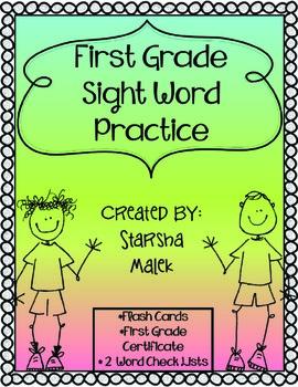 First Grade Sight Word Practice (S.Malek)