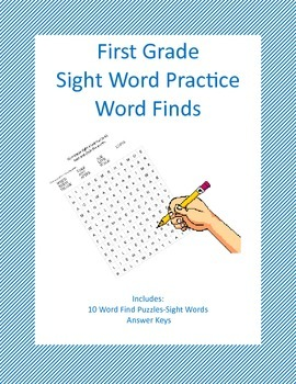First Grade Sight Word Practice-Word Finds