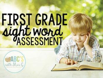 First Grade Sight Word Quarterly Assessment [EDITABLE]