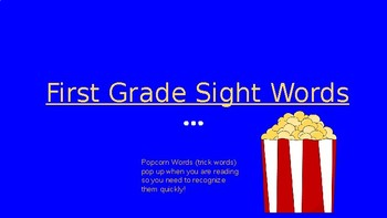 First Grade Sight Word Review