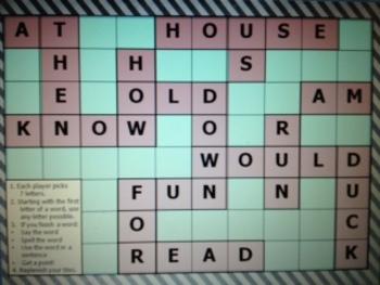First Grade Sight Word Scrabble