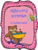 First Grade Sight Word Scramble