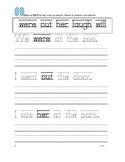 First Grade Sight Word Sentence Writing