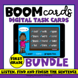 First Grade Sight Word Sentences | Boom Cards Distance Lea