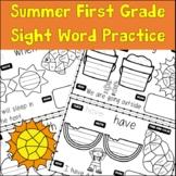 First Grade Sight Word Summer Practice