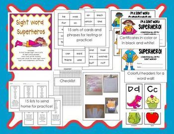 First Grade Sight Word Superheroes