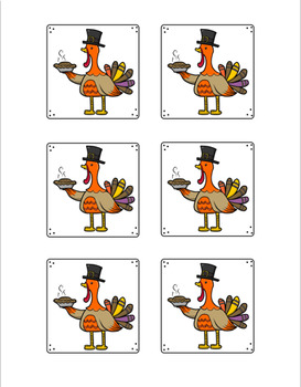 First Grade Sight Word Turkey Memory Game