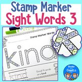 First Grade Sight Word Worksheets for Stamp Markers