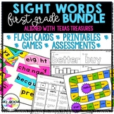 First Grade Sight Word Year-Long Bundle {Texas Treasures Aligned}