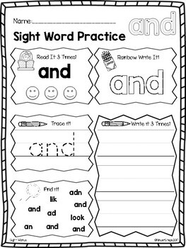 First Grade Sight Words!