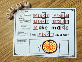 First Grade Literacy Centers with Ink Stamps {41 words!}